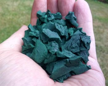 Garuda wire free Forest Green Rubber Chipping